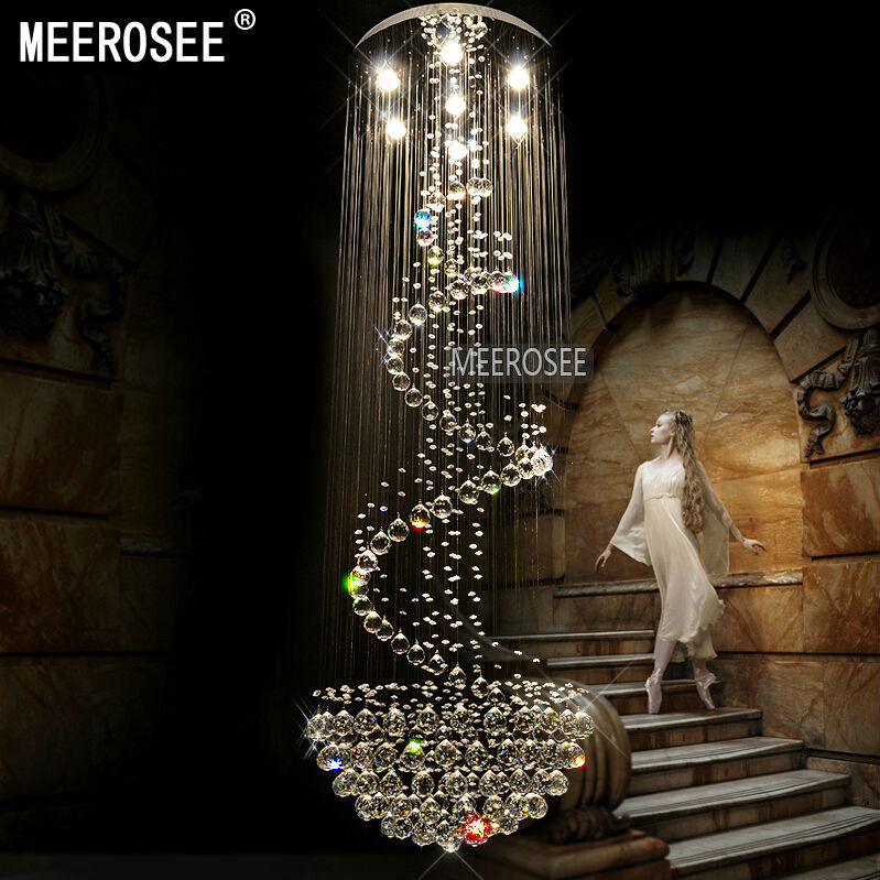 Meerosee Crystal Ceiling Light MD2204 D600-H1800 Ceiling