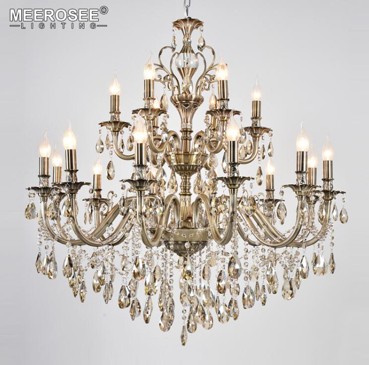 Meerosee lighting led lighting led pendant lights chandeliers large alloy chandeliers md8701 l18 mozeypictures Images